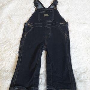 3/$30 Wrangler denim jean overalls size 3-6 mos